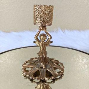 Vtg Hollywood Regency Revlon Cupid Candle Holder